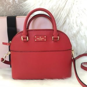 Kate Spade ♠️ NWT Red Mini Satchel/Crossbody Bag
